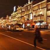 Nacht, straat — Stockfoto