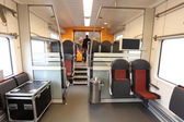 Trem do viajante de bilhete mensal — Foto Stock