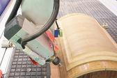Woodworking turning machine — Stock Photo