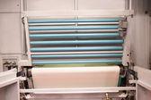 Machine for sticking on adhesive tape — Stock Photo
