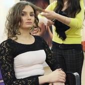 девушка в салоне красоты — Стоковое фото