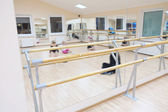 Ballet barre — Stock Photo
