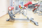 Gym apparatus in a gym hall — Stock Photo
