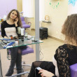 Stock Photo: Girl in beauty parlour