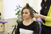 Girl in a beauty parlour — Stock Photo