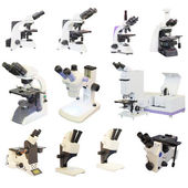 Microscope isolated — Stock Photo