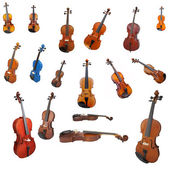 Violins and a fiddlestick — Stock Photo