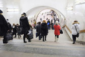 Passengers in Moscow metro — Stock Photo