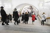 Passengers in Moscow metro — Stock Photo