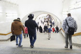 Passengers in Moscow metro — Foto de Stock