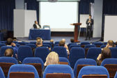 Meeting in a conference hall — Stock Photo