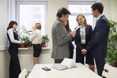 Deliberation in an office — Stock Photo