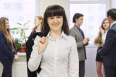 Girl in office — Stock Photo