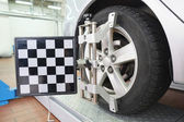 Image of a car repair garage — Stock Photo