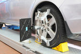 Imagem de uma garagem de reparação de carros — Foto Stock