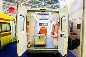 Interior of an empty ambulance car — Stock Photo
