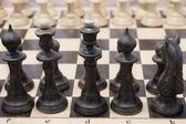 Chessboard with the chess — Stock Photo