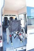 A wheelchair in a bus — Stock Photo