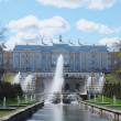 Grand Cascade Fountains At Peterhof Palace garden, St. Petersbur — Stock Photo #46295269