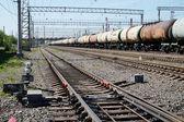 Vista de las vías del ferrocarril — Foto de Stock