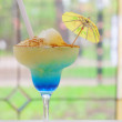 Blue cocktail in a glass — Stock Photo #46975539