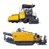 Asphalt spreading machine — Stock Photo