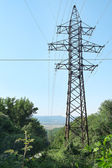 Electric transmission tower — Stock Photo