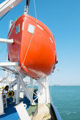 Mechanism of the launching lifeboat — Stock Photo