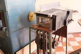 Woodworking planing machine — Stock Photo
