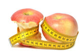 Apples and measure tape — Foto de Stock