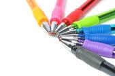 Colored ball-pens — Stock Photo
