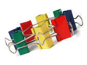 Colored paper binder — Stock Photo
