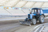 Grader to soccer fields — Foto Stock