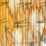 Fence weathered wood background — Stock Photo #14729731