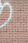 розовый расписной кирпичная стена — Стоковое фото