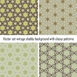 Vector set vintage background classical patterns — Stock Vector #15711427