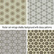 Stock Vector: Vector set vintage background classical patterns