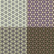 Stock Photo: Set vintage shabby background with classy patterns