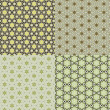 Set vintage shabby background with classy patterns — Stock Photo