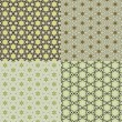Set vintage shabby background with classy patterns — Stock Photo #16216775