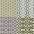 Set vintage shabby background with classy patterns — Stock Photo #16216785