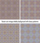 向量设置复古背景古典图案 — 图库矢量图片