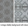 Vector set vintage background classical patterns — Stock Vector #17325033