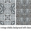 Vector set vintage background classical patterns — Stock Vector #17325039