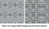 Vector establece fondo vintage patrones clásicos — Vector de stock