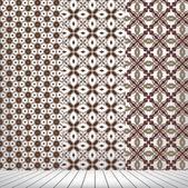 Kamer met instellen naadloze en houten vloer — Stockvector