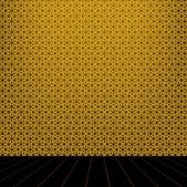 Goldene Saal mit Holzboden — Stockfoto