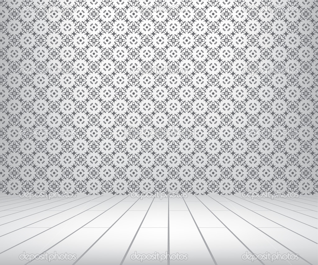 Phenomenal White Room With Pattern Wall And Wooden Floor Stock Photo Largest Home Design Picture Inspirations Pitcheantrous