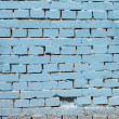 brickwall sfondo blu vintage — Foto Stock