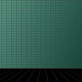 зеленый номер с деревянным полом — Стоковое фото